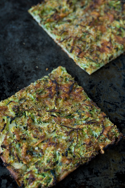 PIZZA ZUCCHINI Zucchini, gruyere cheese, bread crumbs; thin, crisp crust.