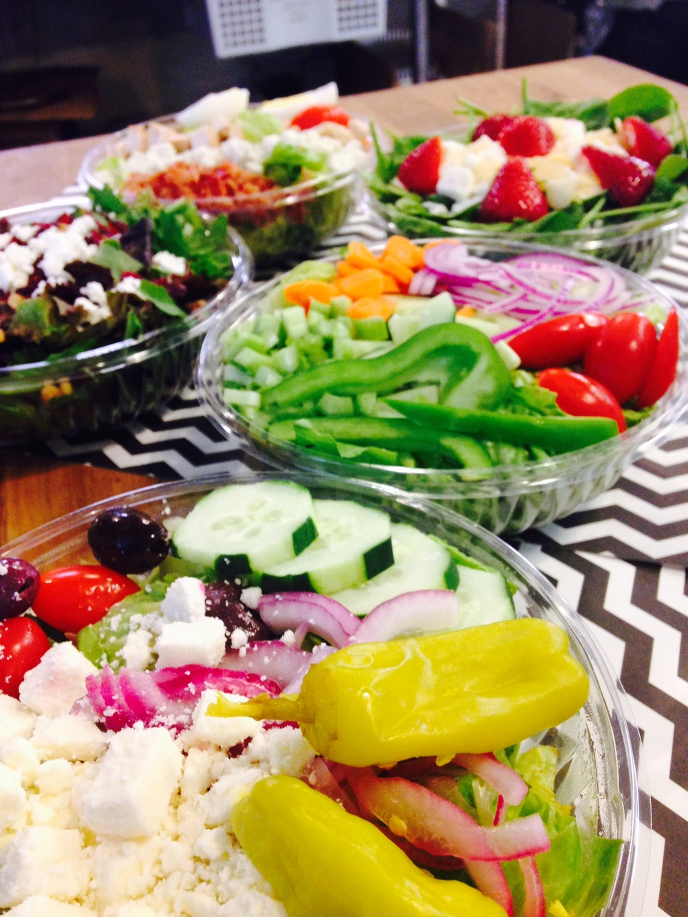 Greek salad, garden salad & more!