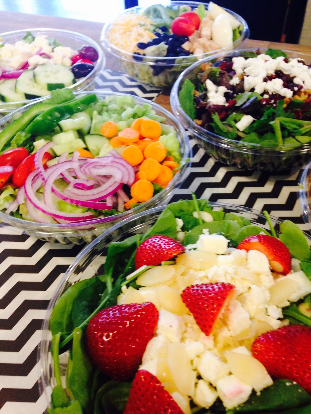fresh strawberry spinach salad, garden salad