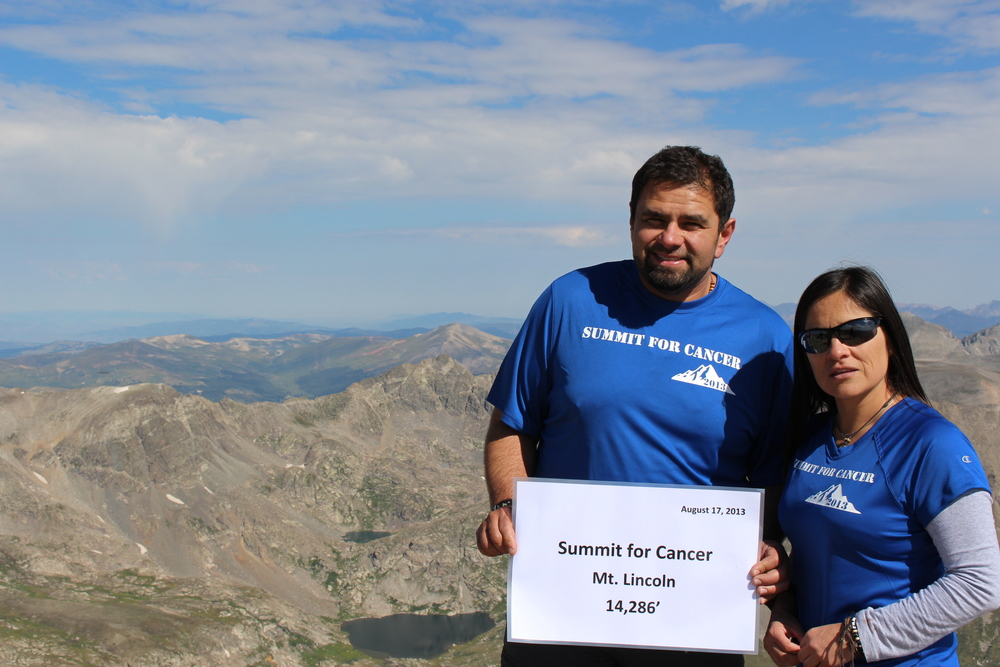 Frank and Liz, Annual Summit For Cancer supporting Shining Stars