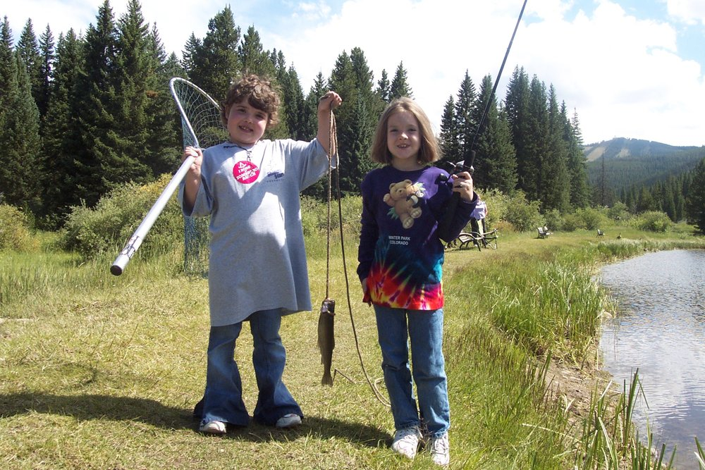 Kaity enjoying fishing with her sister at a Shining Stars Event