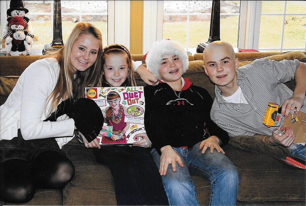 Bennett (right) with his siblings Emily, Abby, and Nate.