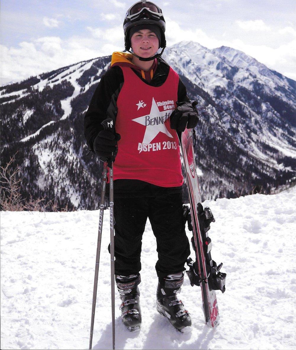 Bennett at the Winter Games Program