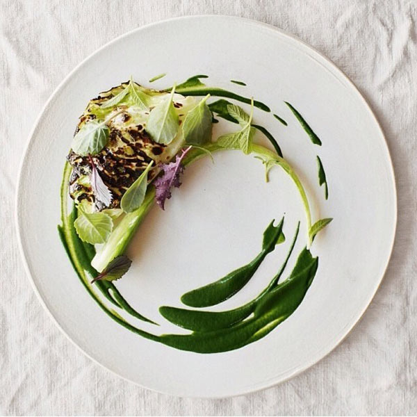 Sweet water pike grilled with summer cabbage by Rene Redzepi