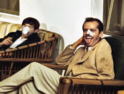 Gotta love these dudes.   Chinatown (1974) - Roman Polanski & Jack Nicholson