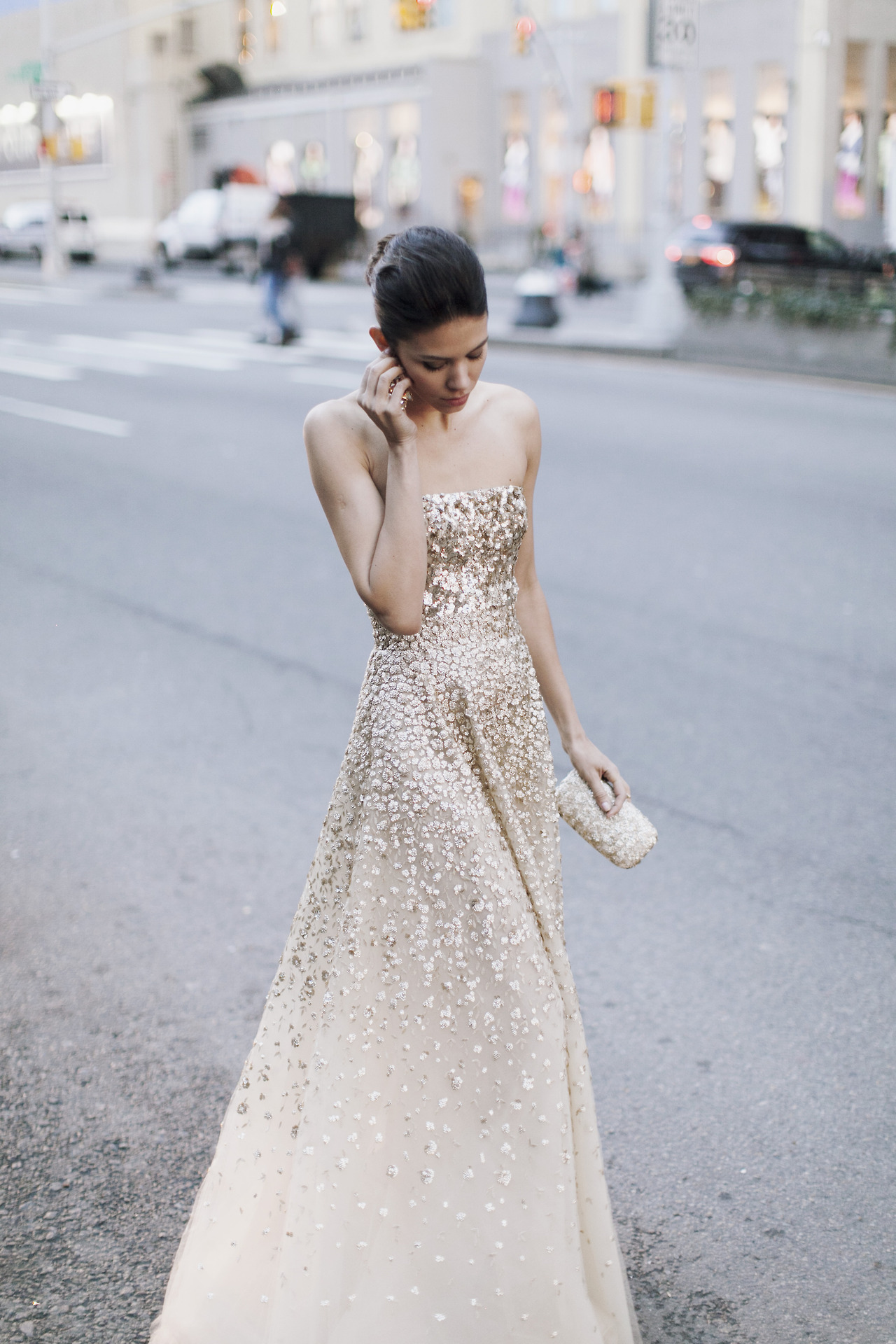 jamesnord :     Golden Gown by Oscar de la Renta