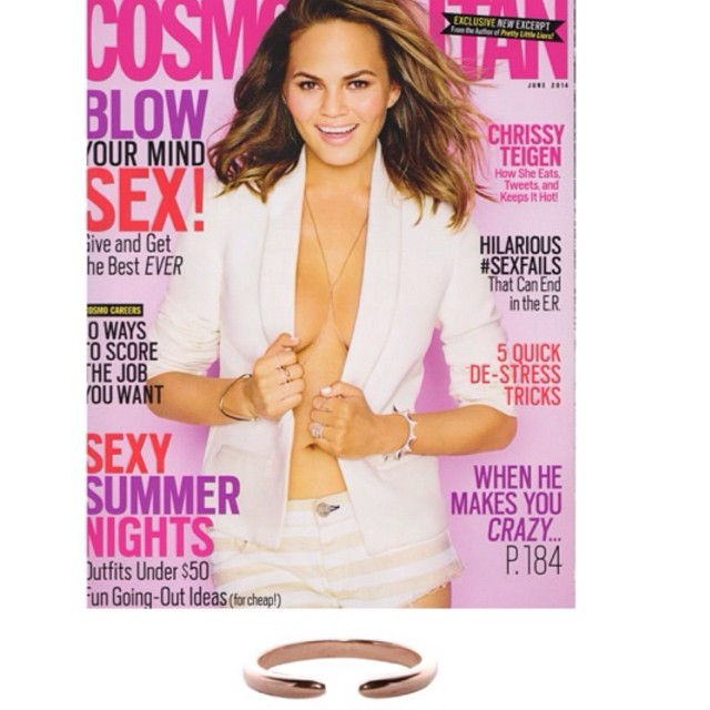 @campbelljewels Rose gold talon ring on the cover of Cosmopolitan this month! 💜 @michellecampbell
