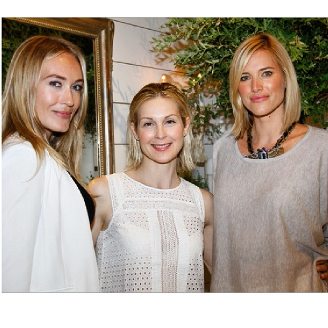 @campbelljewels designer @michellecampbell with the gorgeous @kellyrutherford and @kristentaekman at the South Hampton @clubmonaco opening this weekend!  (at Club Monaco Southampton)