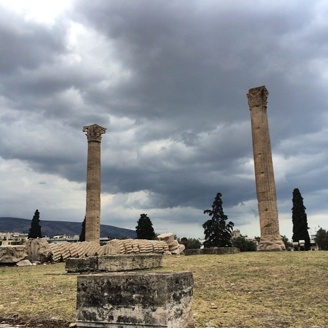 #zeus (at Temple of Olympian Zeus, Athens)
