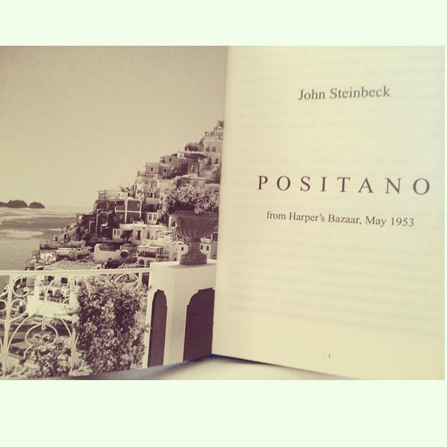 This guy. Amazing little read. (at La Sirenuse Hotel, Positano)