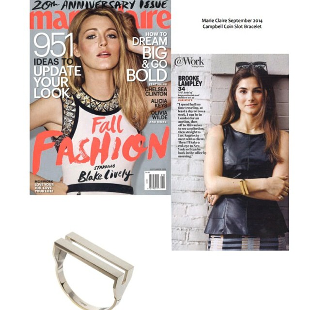 Boom @marieclairemag killing it with the @campbelljewels coin slot cuff! ❤️💙❤️💙 (at Los Angeles International Airport (LAX))