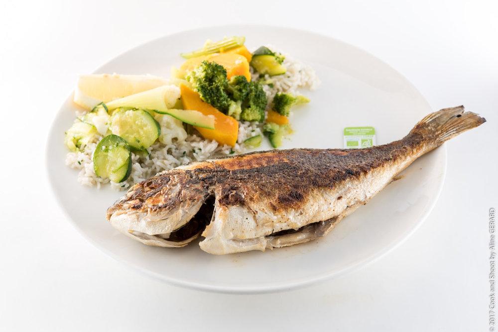Daurade Royale Bio —La Pêche du Jour bio ou sauvage à la plancha (portion de +500g)