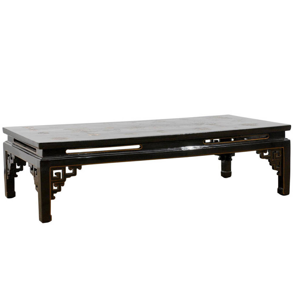 Black Lacquered Chinese Coffee Table