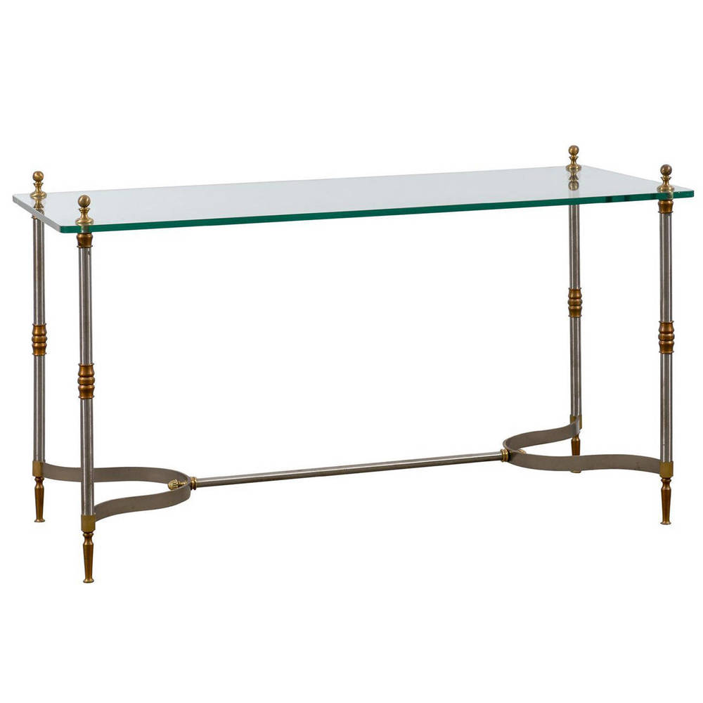 Glass Top Directoire Style Console