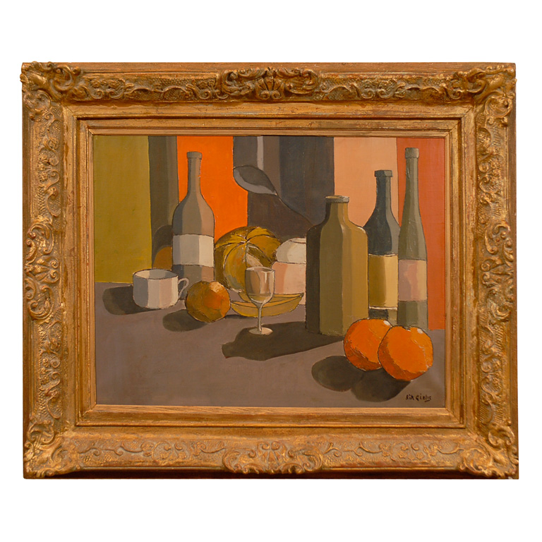 Still Life Painting, Oil on Canvas, Signed