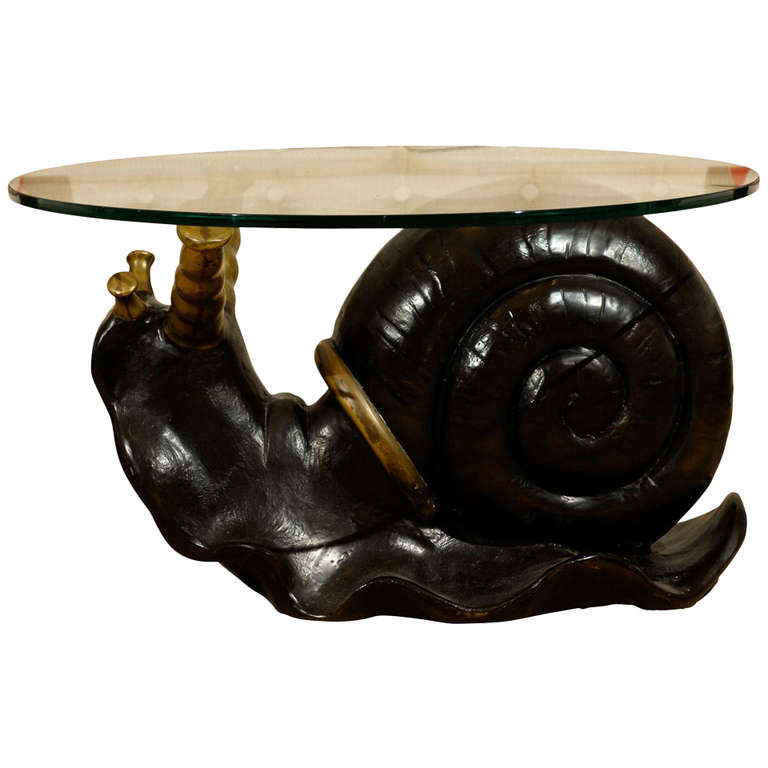 Bronze Snail Coffee Table