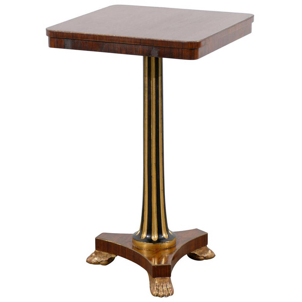 Pedestal Side Table in Rosewood