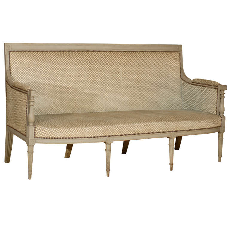 Directoire Period Canape in Painted Beechwood