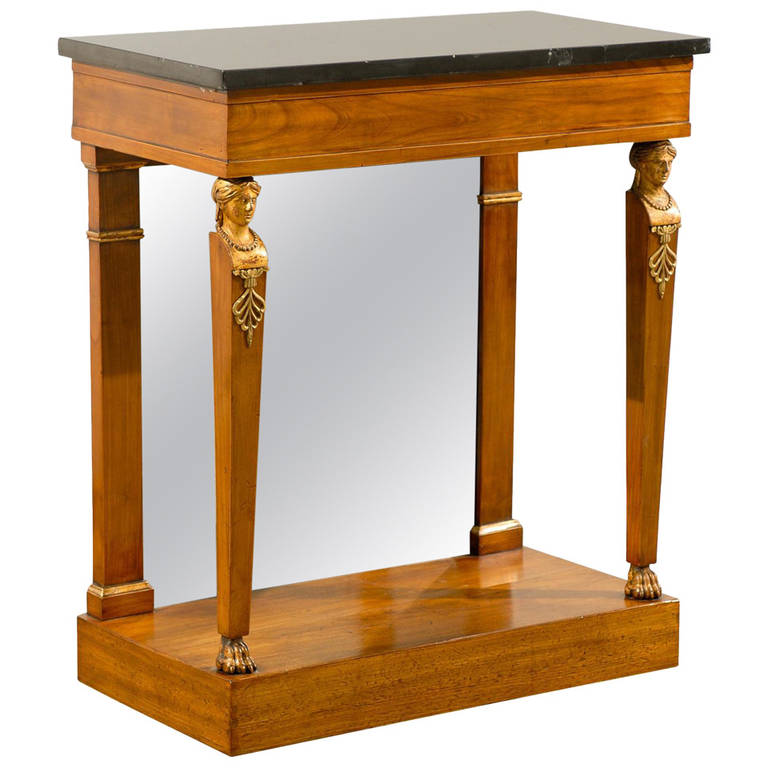 Early 19th Century Empire Period Console with Marble Back