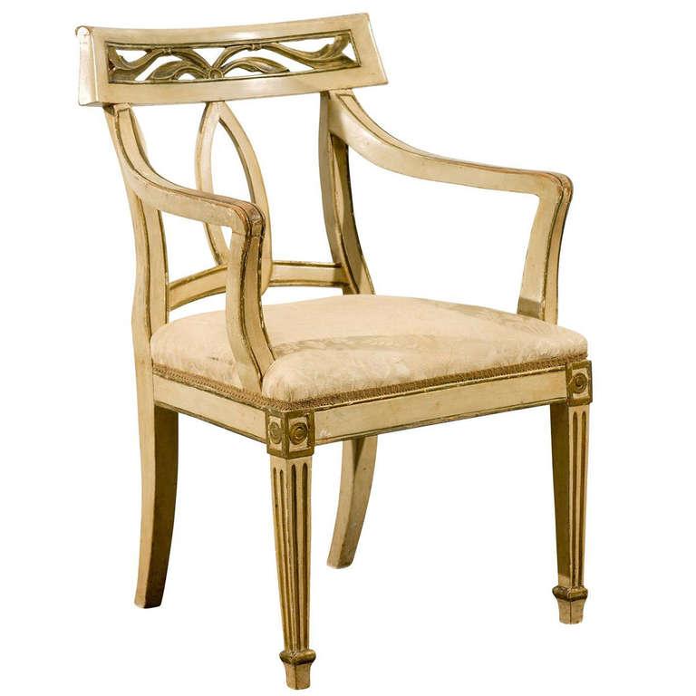 Italian Painted Arm Chair