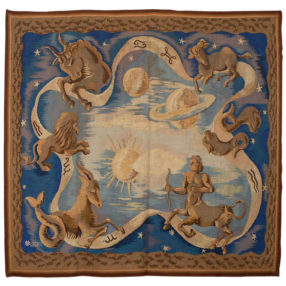 Astrology Tapestry, Signed