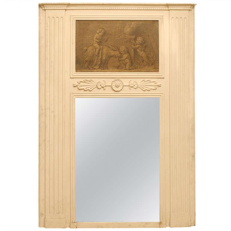 Trumeau Wood Mirror
