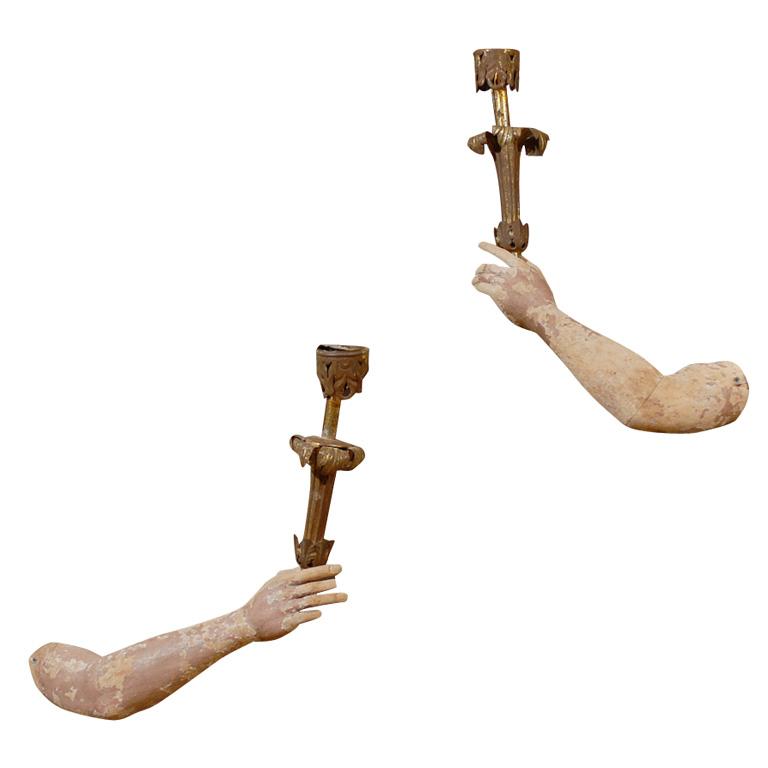 Carved Wood Sconces