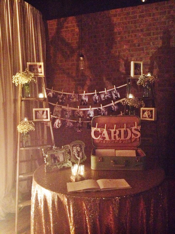 rustic chic wedding gift table