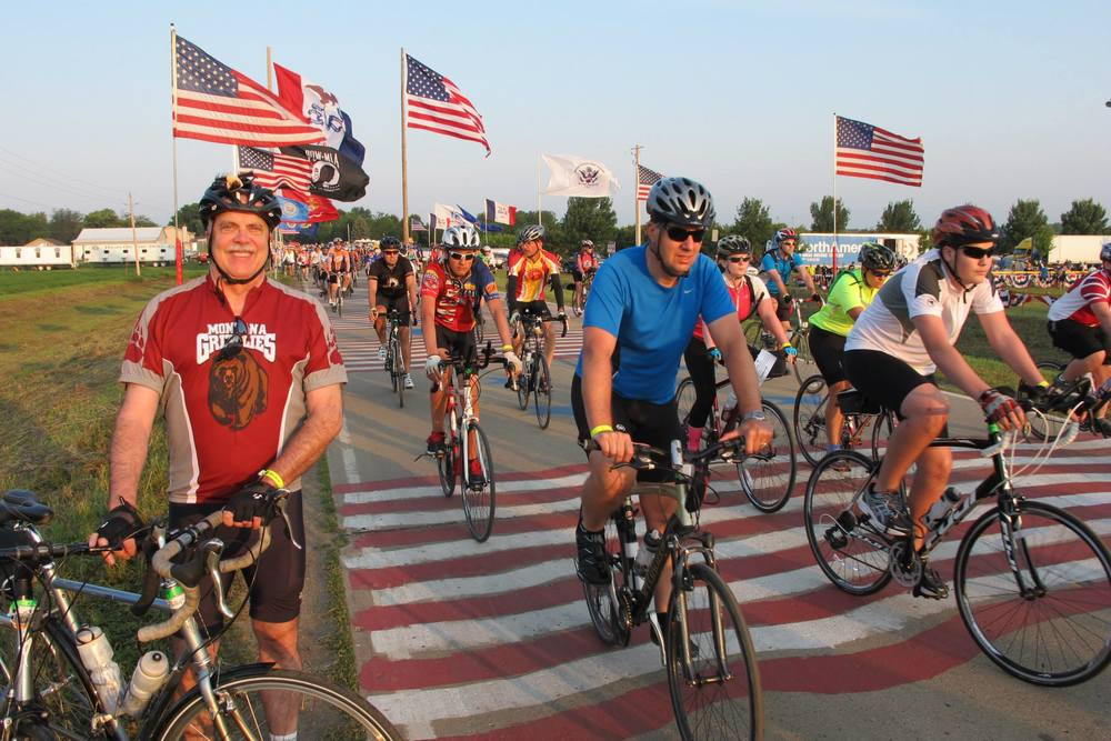 Jeff Birkby embarking on his third RAGBRAI.
