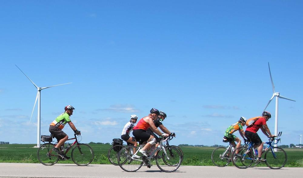 Wind machines signaled whether we fought headwinds or cruised with breezes coming from behind.