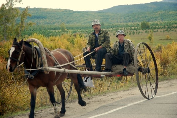 Modes of transport traditional and modern use the Siberian roads.