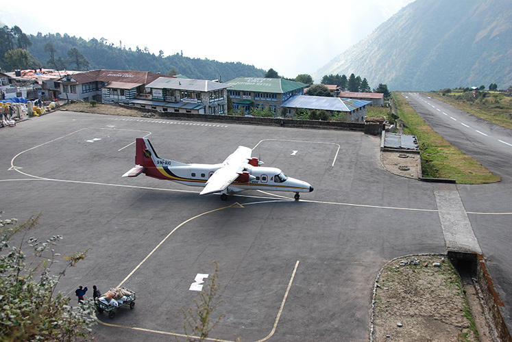 Lukla airstrip – 9,000 feet elevation, no room for pilot error