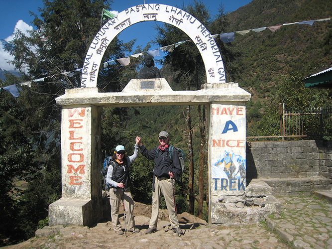 Beginning of Everest Base Camp trek