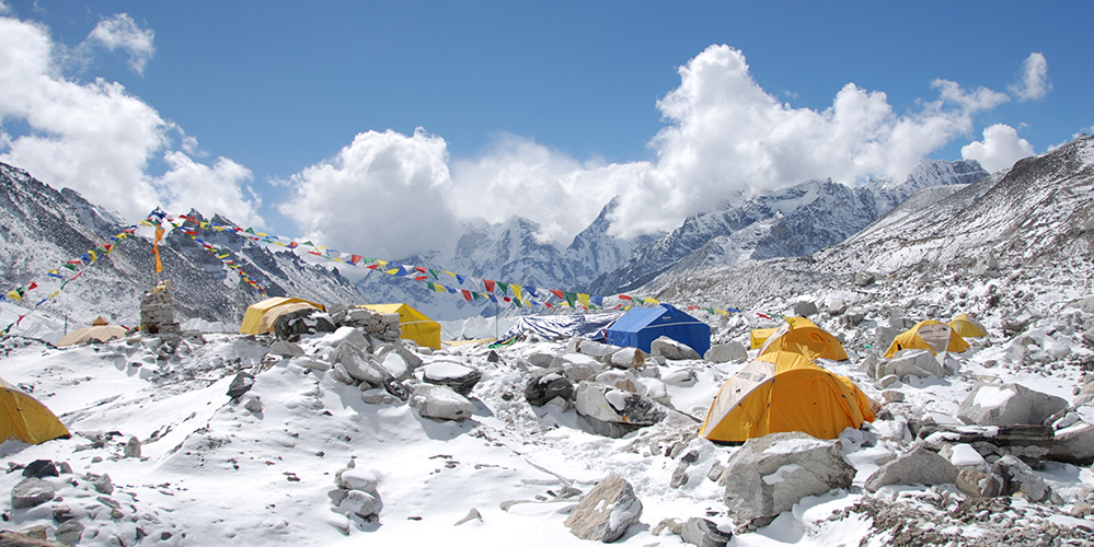 Everest Base Camp. 17,500 feet elevation.