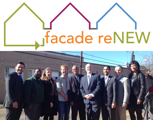 The Facade ReNEW team and Mayor Mitch Landrieu