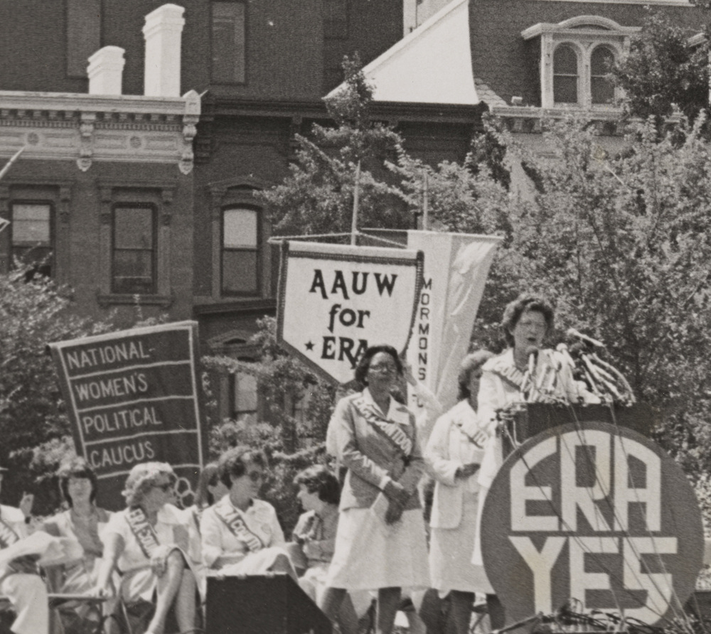 American Association for University Women (AAUW)  Equal Rights Amendment Rally, 1978. AAUW Archives, Washington, D.C.
