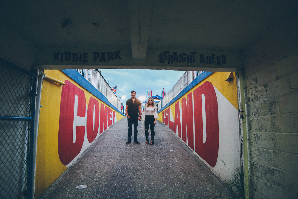 ENGAGEMENT PHOTO SESSION: BROOKLYN CONEY ISLAND