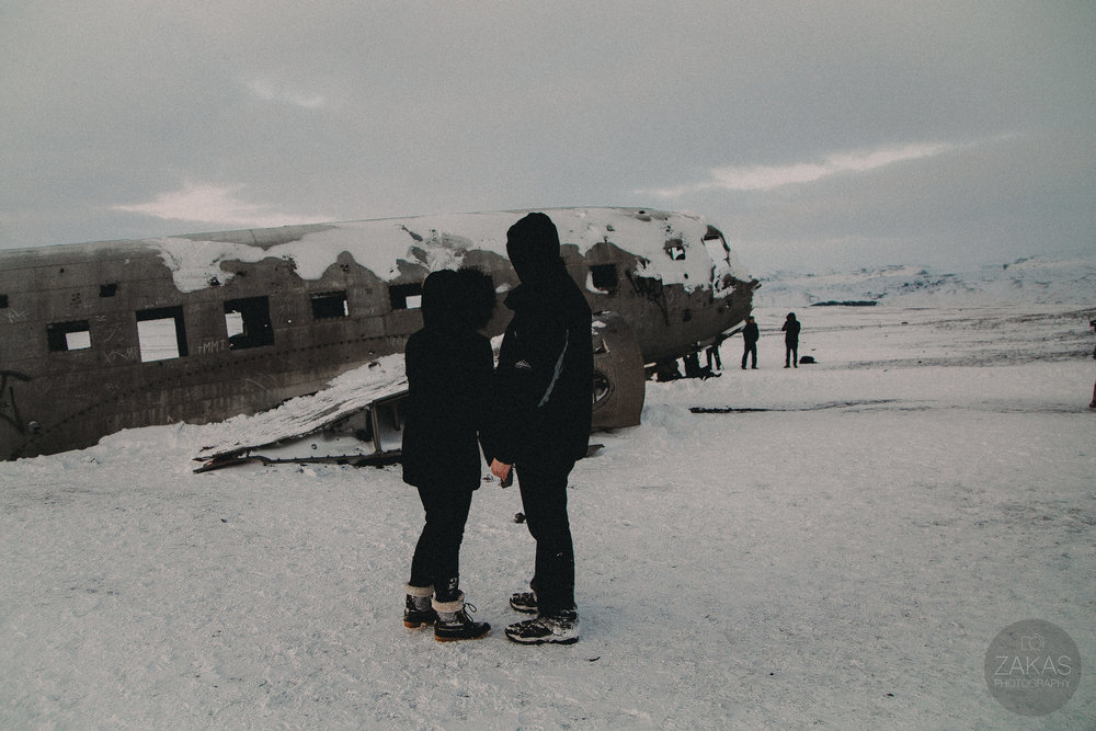 Secret Iceland Proposal at Sólheimasandur Plane Wreck- Iceland Wedding Photographer | Zakas Photography