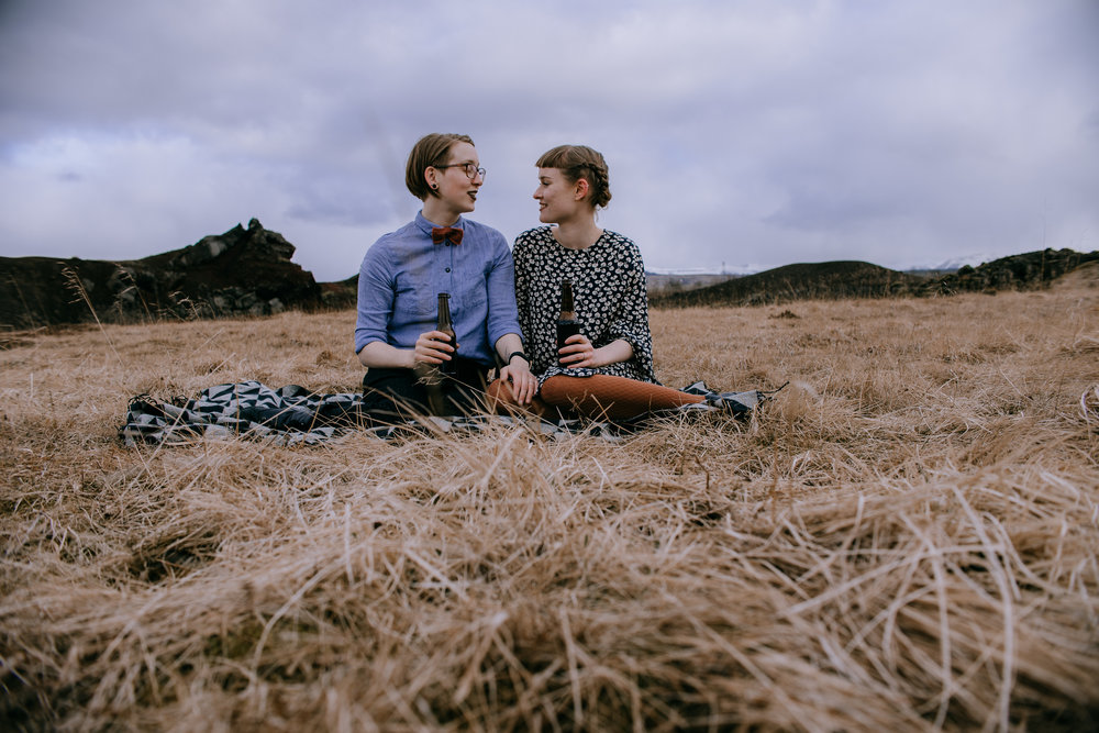 iceland lqbtq engagement session | iceland wedding photographer