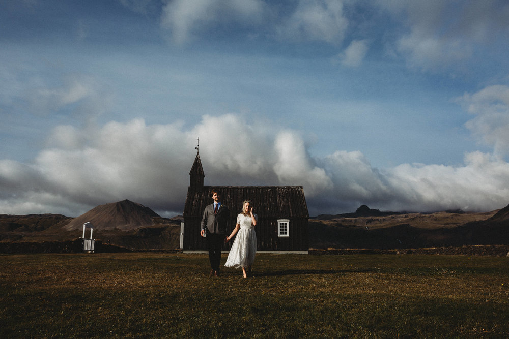 """""""Stephanie made our wedding wonderful! - She is a fantastically talented photographer, a knowledgeable guide and a great person. As soon as we reached out to Stephanie, we knew we were in good hands. She was familiar with the location in Iceland where we were eloping, had ideas for our ceremony and the photoshoot afterwards and was very helpful the day of the wedding. Best of all, her pictures are beautiful. Our friends and family are blown away by the quality and beauty of the photos. Overall, we had a great experience with Stephanie and highly recommend her to any couple considering a photographer.""""- Melissa & Ben 