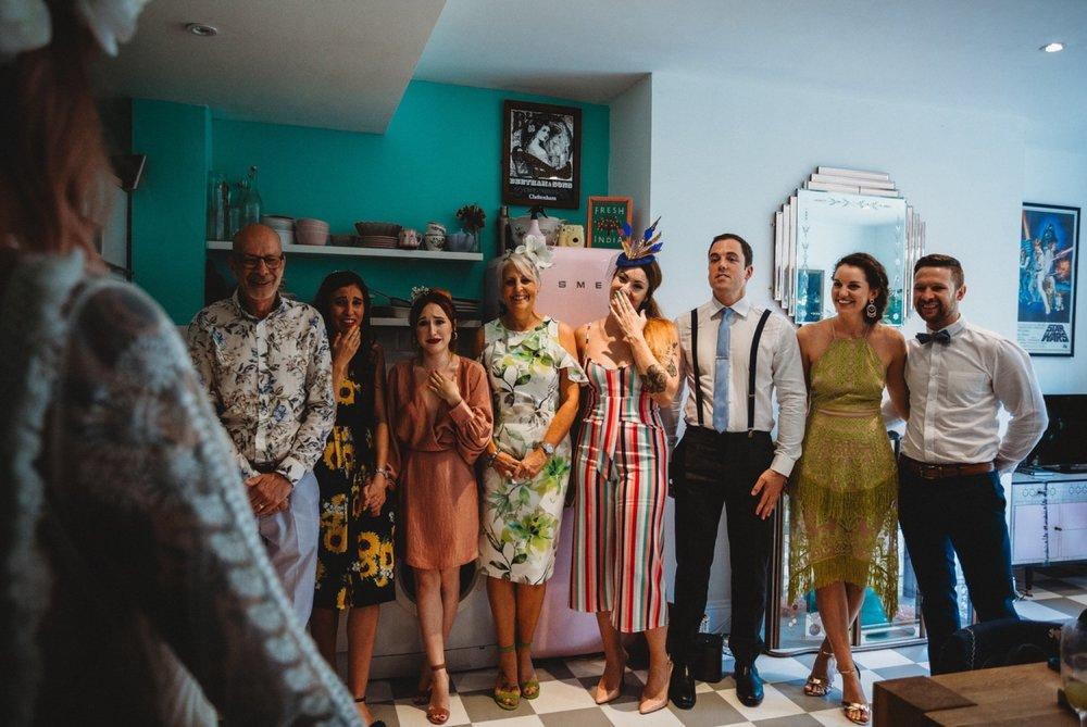 hackney London wedding bride reveal by zakas photography