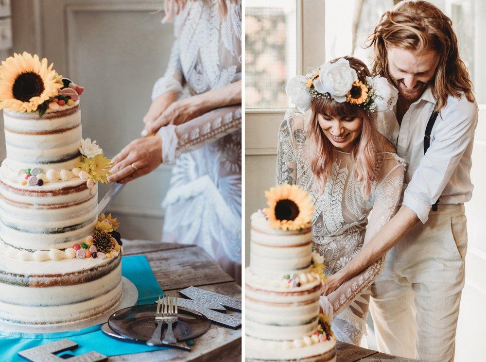 hackney London wedding reception vegan cake by zakas photography