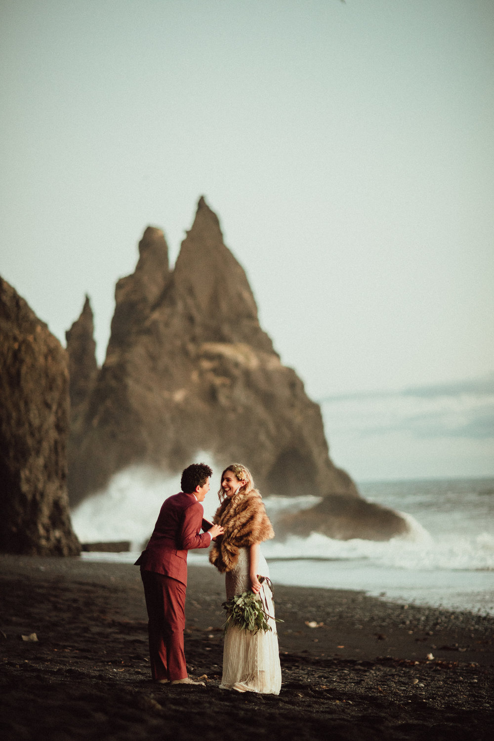 Elopement Photography starting at $3500 - with collections to make your wildest wedding dreams happen. Horses, helicopters, glaciers, volcanos, however you want it.