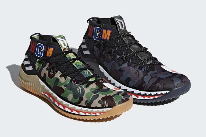 b0059d6723fa5b The fourth signature sneaker of Damian Lillard has been chosen to be the  centerpiece of the collaboration between Adidas and Bape with the  announcement of ...