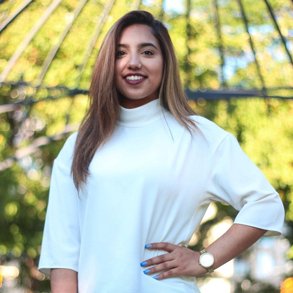 Simran Gill - Vice-President of marketing  4th year, majoring in Global management Studies