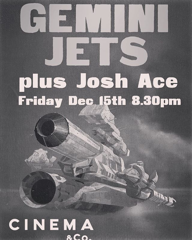 WE'RE SUPPORTING GEMINI JETS AT THEIR DEBUT SHOW THIS FRIDAY // CINEMA & CO // SWANSEA // DOORS 8:30PM #cinemacoswansea #geminijetsband #swanseagigs