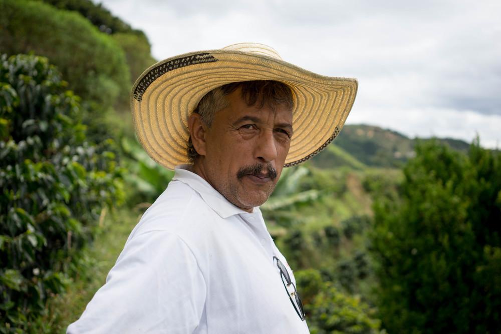 Hernando Gomez at his farm Bella Vista, in Planadas, Tolima.