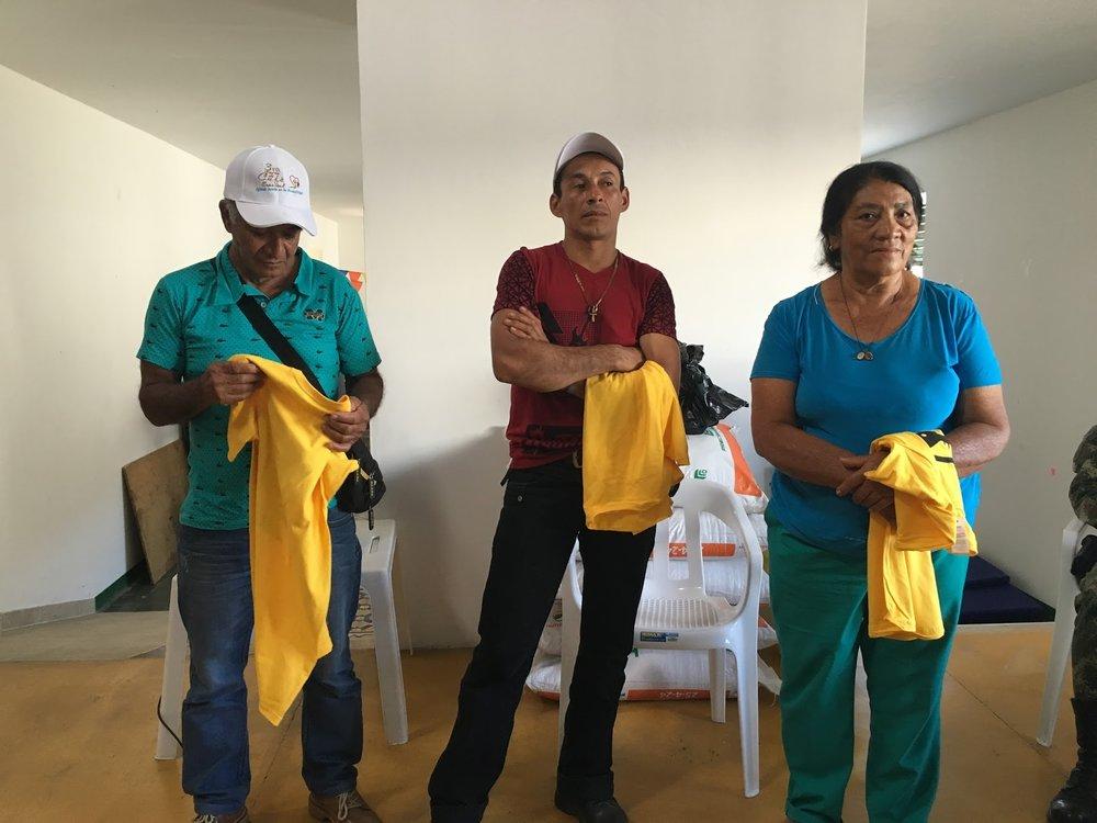 Three finalists. Left to right: Jaime Alzate, Nemesio Ramos, Ofelia Gomez