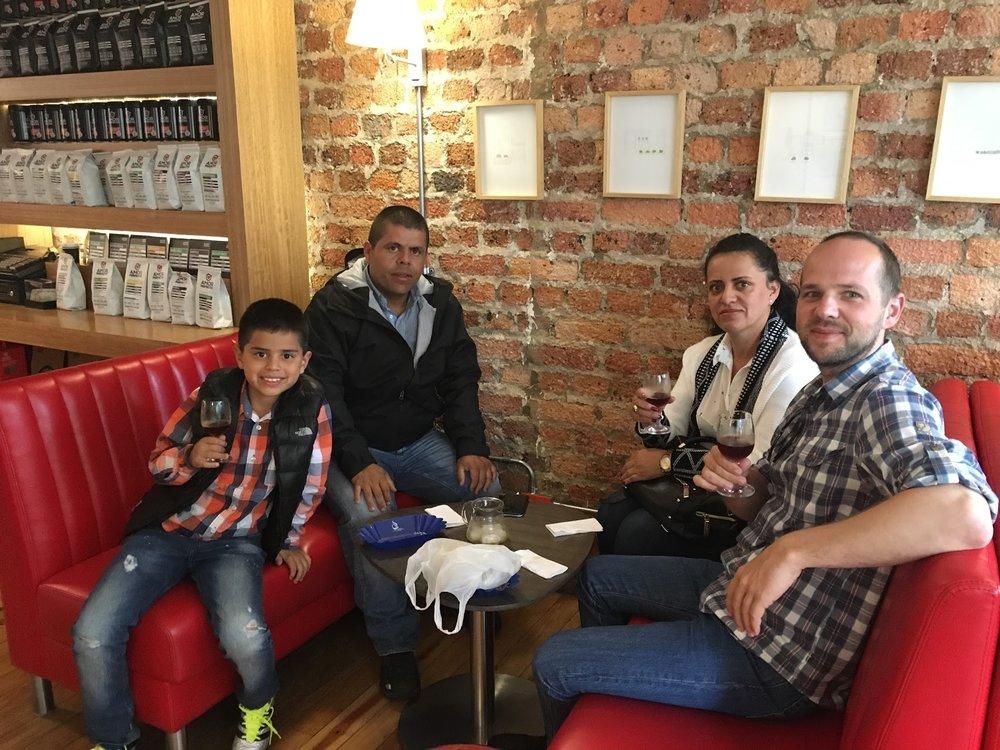 Drinking Astrid Medina in Bogotá, with Astrid Medina and her family