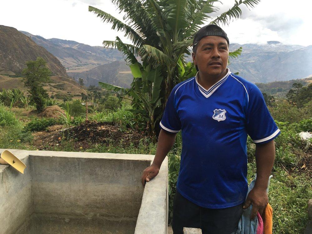 Giovanni Morales, at 2100 masl in Yacuanquer, Nariño